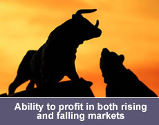 Ability to profit in both rising and falling markets